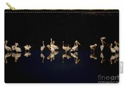 Flock Of Pelicans At Night Carry-all Pouch