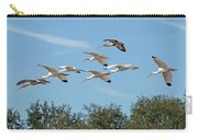Flock Of White Ibises Carry-all Pouch