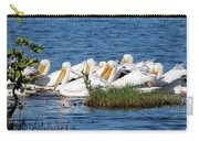 Flock Of White Pelicans Carry-all Pouch