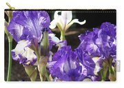Flora Bota Irises Purple White Iris Flowers 29 Iris Art Prints Baslee Troutman Carry-all Pouch