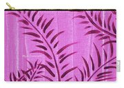 Flora Fauna Tropical Abstract Leaves Painting Magenta Splash By Megan Duncanson Carry-all Pouch