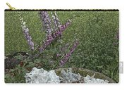 Floral Abstract With Anchor Carry-all Pouch