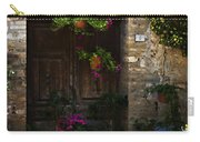 Floral Adorned Doorway Carry-all Pouch