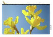 Floral Art Daffodil Flowers Spring Prints Blue Sky Baslee Troutman Carry-all Pouch