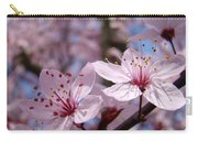 Floral Art Pink Spring Blossoms Prints Blue Sky Baslee Troutman Carry-all Pouch