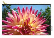 Floral Art Pink Yellow Dahlia Flower Baslee Troutman Carry-all Pouch