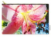 Floral Art Print Pink Summer Lily Flower Lilies Baslee Troutman Carry-all Pouch