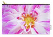 Floral Art Prints Big Pink White Dahlia Flower Baslee Troutman Carry-all Pouch