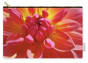 Floral Art Prints Orange Pink Dahlia Flower Baslee Troutman Carry-all Pouch