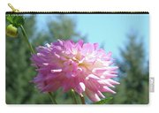 Floral Art Prints Pink White Dahlia Flower Pastel Baslee Troutman Carry-all Pouch