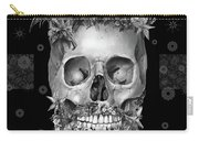 Floral Beard Skull 3 Carry-all Pouch