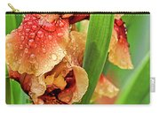Floral Bearded Iris With Rain Drops  Carry-all Pouch