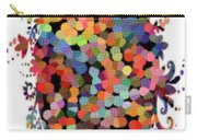 Floral Bouquet Abstract With Dots Carry-all Pouch