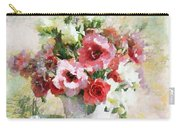 Floral Bouquet Table Setting In Tiny Bubbles Carry-all Pouch