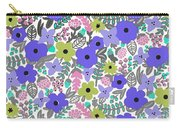 Floral Burst Of Blue Carry-all Pouch