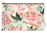 Floral Cranes Carry-all Pouch