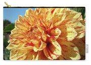 Floral Dahlia Flower Art Print Orange Red Dahlias Baslee Carry-all Pouch
