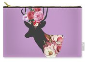 Floral Deer Carry-all Pouch