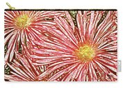 Floral Design No 1 Carry-all Pouch by Ben and Raisa Gertsberg