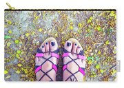 Floral Feet Carry-all Pouch