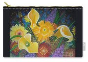 Floral Fireworks Carry-all Pouch