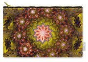 Floral Fractal Wreath  Carry-all Pouch