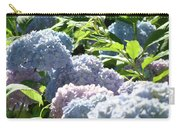 Floral Garden Art Prints Blud Hydrangea Flowers Carry-all Pouch