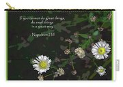 Floral Great Way Quote Carry-all Pouch