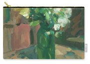 Floral Green Vase Carry-all Pouch