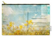 Floral In Blue Sky Postcard Carry-all Pouch by Setsiri Silapasuwanchai