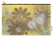 Floral In Gold And Yellow Carry-all Pouch