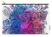 Blue Floral Indian Pattern Carry-all Pouch