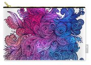 Lilac Floral Indian Pattern Carry-all Pouch