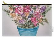 Floral Inked Carry-all Pouch