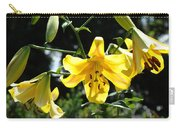 Floral Lilies Art Yellow Lily Flowers Giclee Baslee Troutman Carry-all Pouch