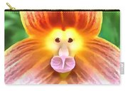Floral Monkey Pink Yellow And Red Carry-all Pouch