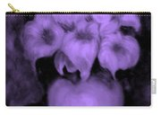 Floral Puffs In Purple Carry-all Pouch