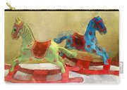 Floral Rocking Horses Carry-all Pouch