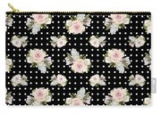 Floral Rose Cluster W Dot Bedding Home Decor Art Carry-all Pouch