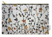 Floral Satin Carry-all Pouch