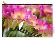 Floral She Sparkles Carry-all Pouch