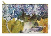 Floral Table Onset In Tiny Bubbles Carry-all Pouch