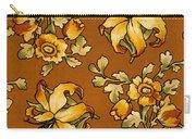 Floral Textile Design Carry-all Pouch