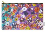 Floral Theme Carry-all Pouch