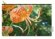 Floral Tiger Lily Flower Art Print Orange Lilies Baslee Troutman Carry-all Pouch