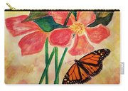 Floral With Butterfly Carry-all Pouch
