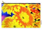 Floral Yellow Painting Lit Carry-all Pouch