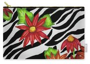 Floral Zebra Print Carry-all Pouch