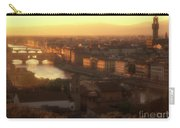 Florence And The Ponte Vecchio Dusk, Tuscany, Italy Carry-all Pouch
