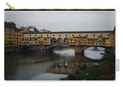 Florence Italy - An Autumn Day At Ponte Vecchio Carry-all Pouch